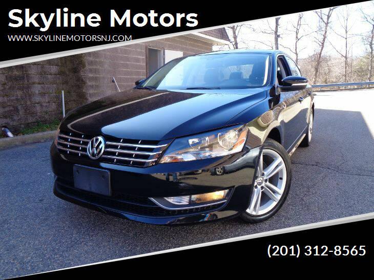 2014 Volkswagen Passat for sale at Skyline Motors in Ringwood NJ