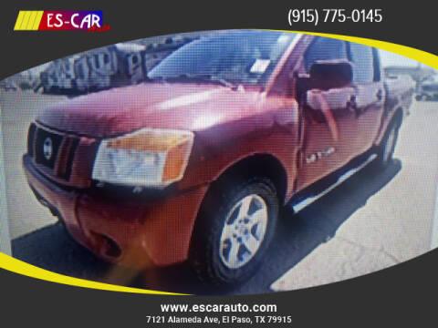 2008 Nissan Titan for sale at Escar Auto in El Paso TX