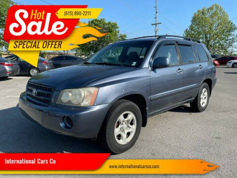 2003 Toyota Highlander for sale at International Cars Co in Murfreesboro TN