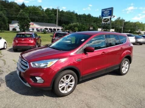 2017 Ford Escape for sale at Ripley & Fletcher Pre-Owned Sales & Service in Farmington ME