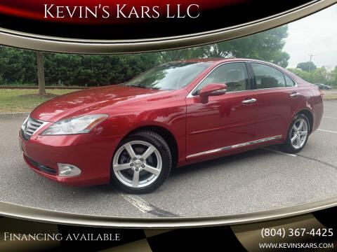 2011 Lexus ES 350 for sale at Kevin's Kars LLC in Richmond VA