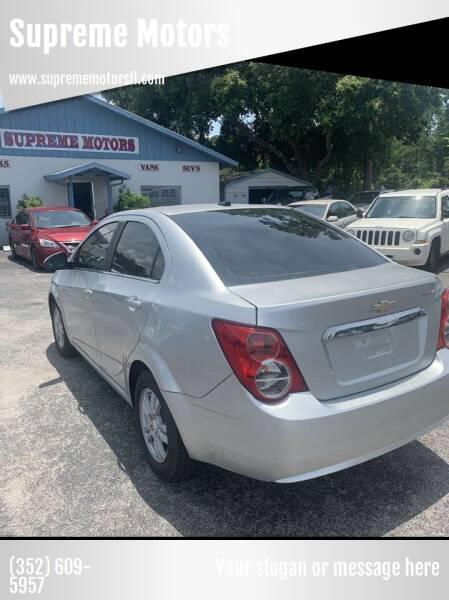 2014 Chevrolet Sonic for sale at Supreme Motors in Tavares FL