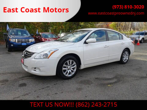 2012 Nissan Altima for sale at East Coast Motors in Lake Hopatcong NJ