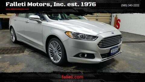 2013 Ford Fusion for sale at Falleti Motors, Inc.  est. 1976 in Batavia NY