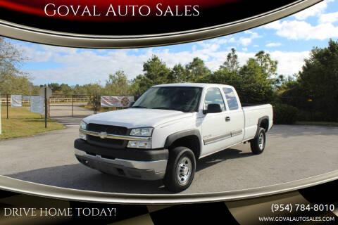 2004 Chevrolet Silverado 2500HD for sale at Goval Auto Sales in Pompano Beach FL