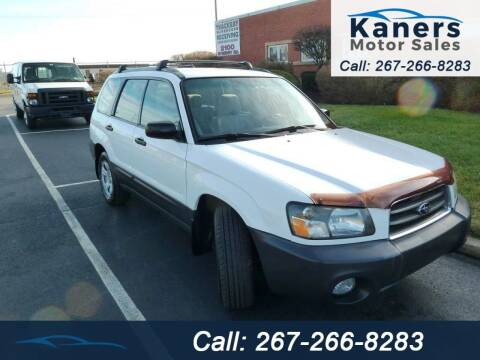 2004 Subaru Forester for sale at Kaners Motor Sales in Huntingdon Valley PA
