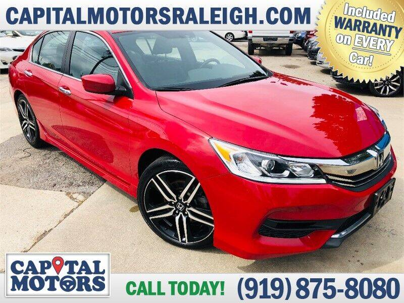 2017 Honda Accord for sale at Capital Motors in Raleigh NC