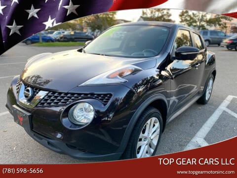 2015 Nissan JUKE for sale at Top Gear Cars LLC in Lynn MA