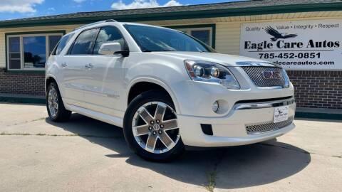 2012 GMC Acadia for sale at Eagle Care Autos in Mcpherson KS