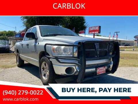 2007 Dodge Ram Pickup 1500 for sale at CARBLOK in Lewisville TX