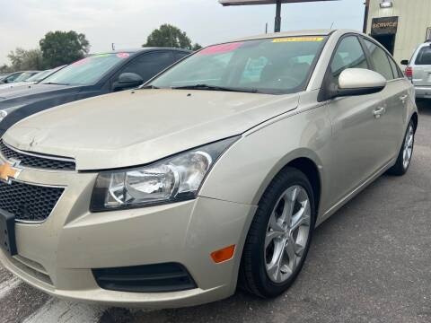2013 Chevrolet Cruze for sale at BELOW BOOK AUTO SALES in Idaho Falls ID