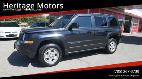 2015 Jeep Patriot for sale at Heritage Motors in Topeka KS