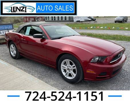 2014 Ford Mustang for sale at LENZI AUTO SALES in Sarver PA