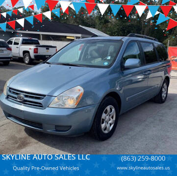2009 Kia Sedona for sale at SKYLINE AUTO SALES LLC in Winter Haven FL