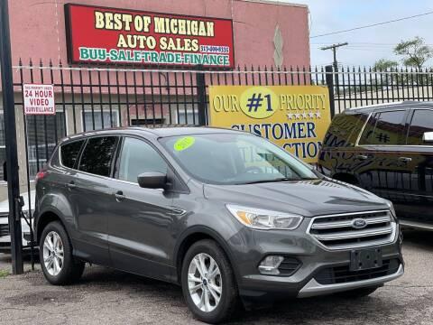 2017 Ford Escape for sale at Best of Michigan Auto Sales in Detroit MI