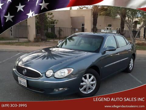 2006 Buick LaCrosse for sale at Legend Auto Sales Inc in Lemon Grove CA