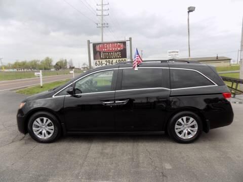 2014 Honda Odyssey for sale at MYLENBUSCH AUTO SOURCE in O` Fallon MO