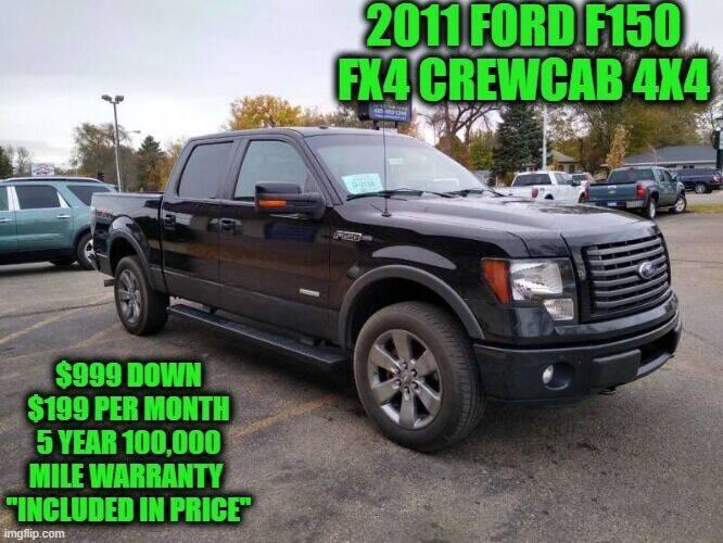 2011 Ford F-150 4x4 FX4 4dr SuperCrew Styleside 5.5 ft. SB - Rowley MA