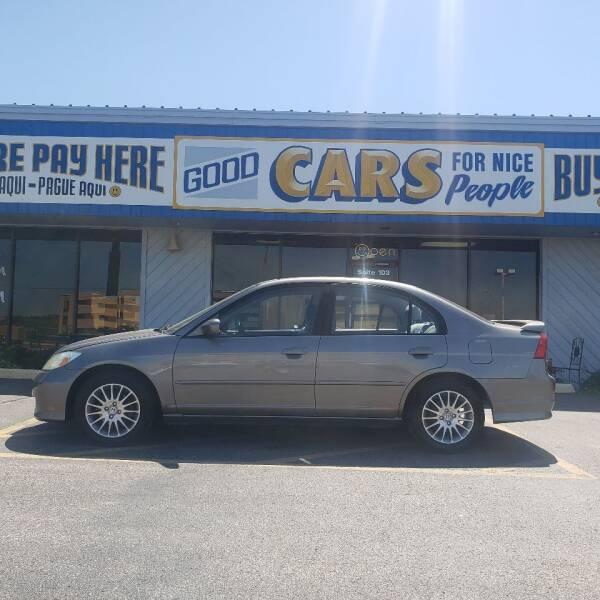 2005 Honda Civic for sale at Good Cars 4 Nice People in Omaha NE