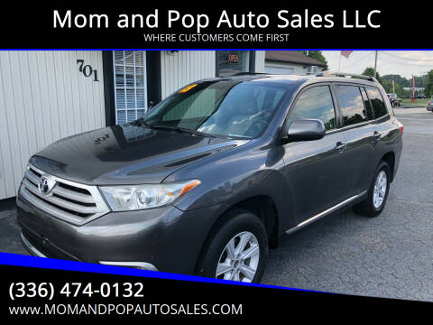 2013 Toyota Highlander for sale at Mom and Pop Auto Sales LLC in Thomasville NC