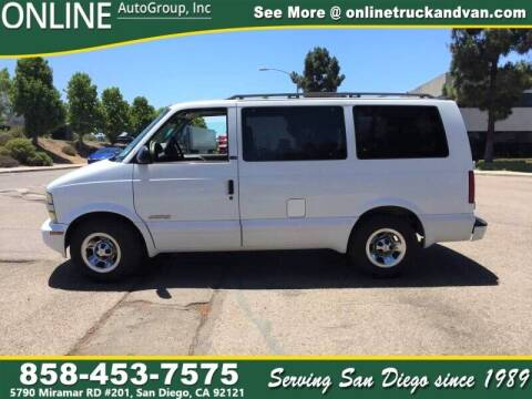 2002 Chevrolet Astro for sale at Online Auto Group Inc in San Diego CA