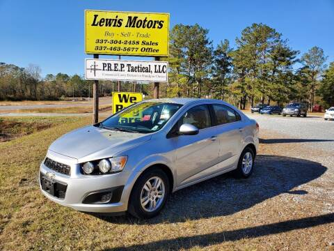 2013 Chevrolet Sonic for sale at Lewis Motors LLC in Deridder LA