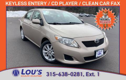 2010 Toyota Corolla for sale at LOU'S CAR CARE CENTER in Baldwinsville NY
