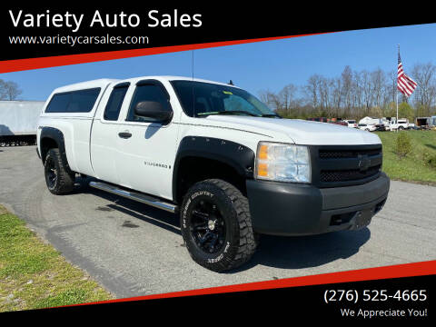 2008 Chevrolet Silverado 1500 for sale at Variety Auto Sales in Abingdon VA