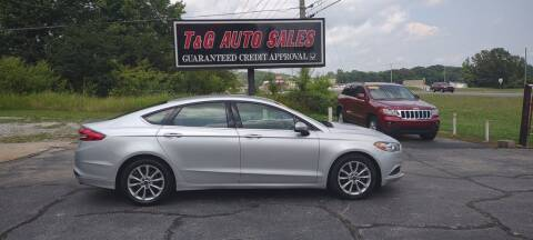 2017 Ford Fusion for sale at T & G Auto Sales in Florence AL