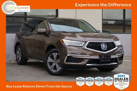 2019 Acura MDX for sale at Dallas Auto Finance in Dallas TX