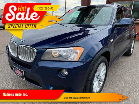 2013 BMW X3 for sale at Nations Auto Inc. in Denver CO