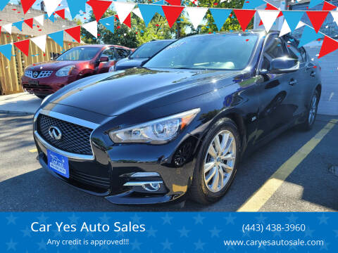 2017 Infiniti Q50 for sale at Car Yes Auto Sales in Baltimore MD