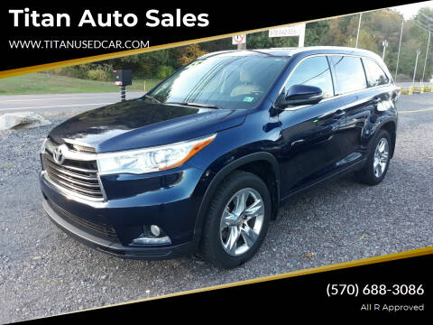 2015 Toyota Highlander for sale at Titan Auto Sales in Berwick PA