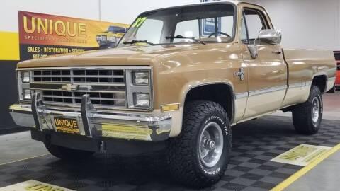 1987 Chevrolet R/V 10 Series for sale at UNIQUE SPECIALTY & CLASSICS in Mankato MN