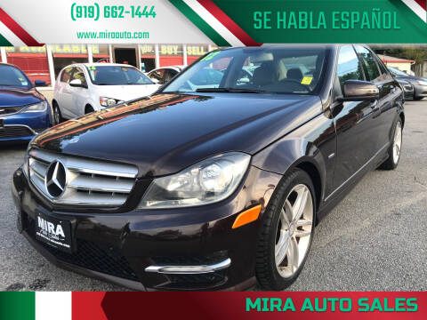 2012 Mercedes-Benz C-Class for sale at Mira Auto Sales in Raleigh NC