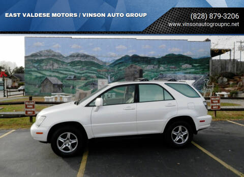 2002 Lexus RX 300 for sale at EAST VALDESE MOTORS / VINSON AUTO GROUP in Valdese NC