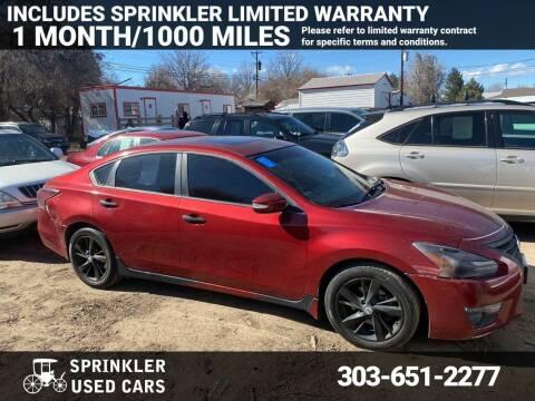2014 Nissan Altima for sale at Sprinkler Used Cars in Longmont CO