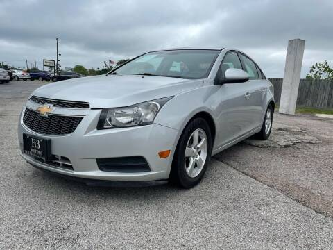 2013 Chevrolet Cruze for sale at H3 MOTORS in Dickinson TX