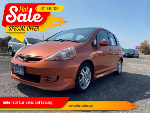 2007 Honda Fit for sale at Auto Tech Car Sales and Leasing in Saint Paul MN
