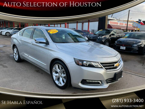 2014 Chevrolet Impala for sale at Auto Selection of Houston in Houston TX