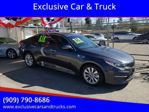 2018 Kia Optima for sale at Exclusive Car & Truck in Yucaipa CA