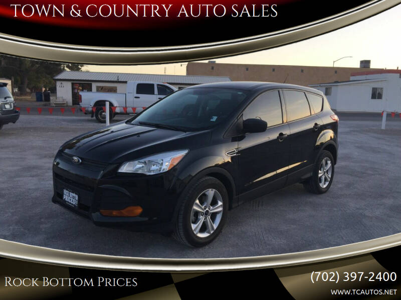 2014 Ford Escape for sale at TOWN & COUNTRY AUTO SALES in Overton NV