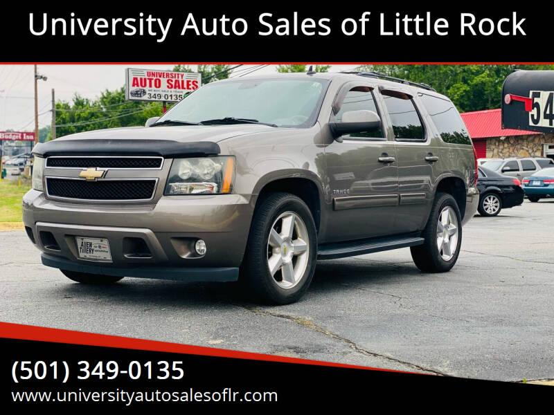 2011 Chevrolet Tahoe for sale at University Auto Sales of Little Rock in Little Rock AR