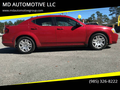 2013 Dodge Avenger for sale at MD AUTOMOTIVE LLC in Slidell LA