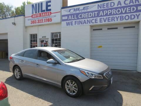 2017 Hyundai Sonata for sale at Nile Auto Sales in Denver CO