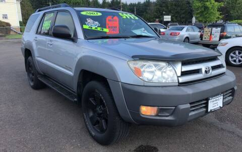 2003 Toyota 4Runner for sale at Freeborn Motors in Lafayette, OR