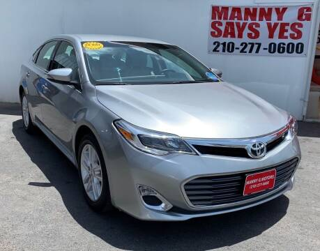 2015 Toyota Avalon for sale at Manny G Motors in San Antonio TX