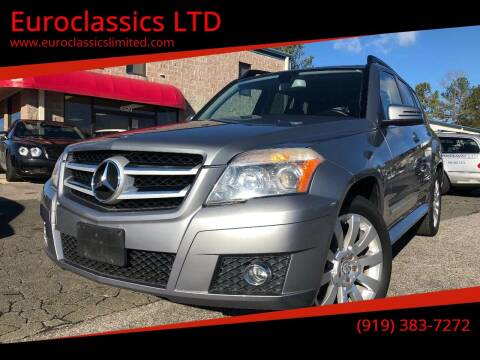 2010 Mercedes-Benz GLK for sale at Euroclassics LTD in Durham NC