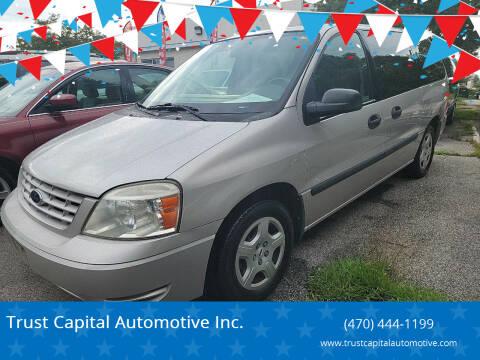 2004 Ford Freestar for sale at Trust Capital Automotive Inc. in Covington GA