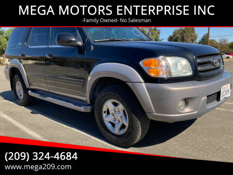 2002 Toyota Sequoia for sale at MEGA MOTORS ENTERPRISE INC in Modesto CA
